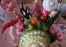 Kytice  v melounové váze