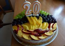 Ovocný dort ke dvacetinám