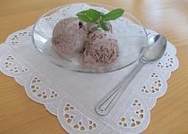 Smetanová krémová  zmrzlina se spoustou čokolády
