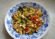 Cuketové těstoviny s tofu
