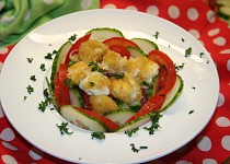 Mini mozzarella v šafránovém těstíčku (Mozzarelline allo zafferano)