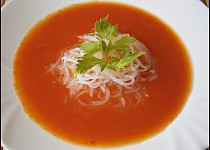 Rajská polévka s řapíkem