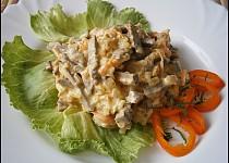 Salát z vepřového srdíčka podle Oksanky