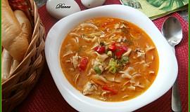 Svačinová kuřecí polévka načerveno