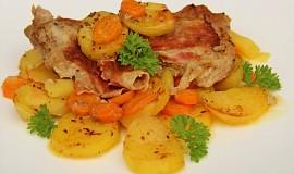 Telecí pečené s mrkví a zázvorem