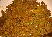 Indická kuchyně - Keema Mattar (curry z mletého masa s hráškem)