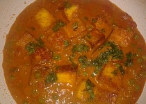 Indická kuchyně - Mattar Paneer Masala