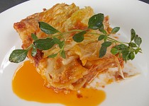 Lasagne s kapustou a sýrovým bešamelem