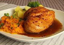 """Marinované kuřecí prso s mrkvovým  """" zelím """""""