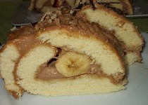 Banánový moučník s chutí karamelek a kávy