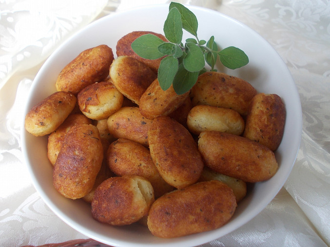 Smažené patronky z bramborové kaše