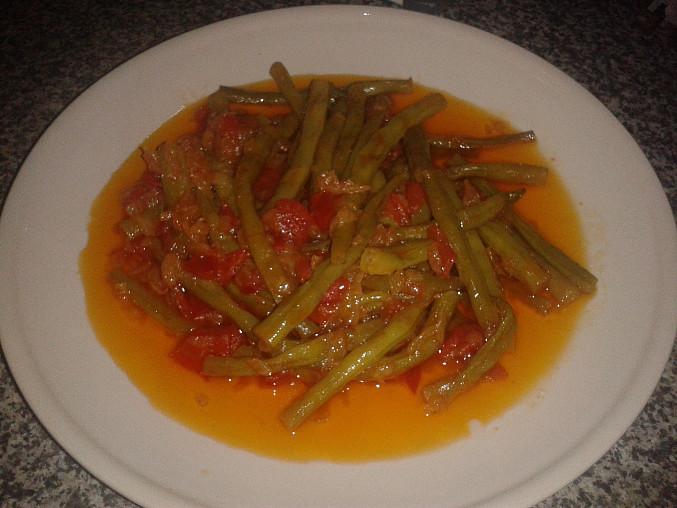 Turecká kuchyně - Fazolové lusky na olivovém oleji