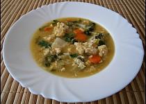 Zeleninová polévka se zasmaženými vejci