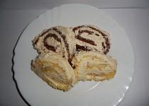 2 Piškotové rolády - banánová + oříšková s čokoládou