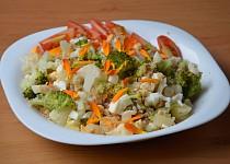 Brokolice s květákem, vejci a tvarůžky