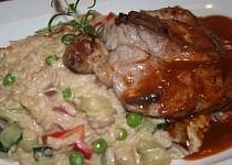 Kuřecí kari steak s italským risottem