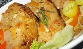 Sekaná s řapíkatým celerem,  plněná bílou klobásou