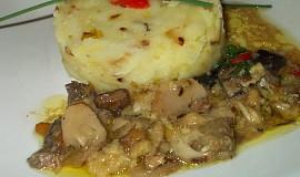 Šťouchané houbové brambory bez masa