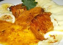 Vepřová pečeně  na šafránu a citronech