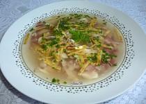 Česneková kuřecí polévka s anglickou slaninou