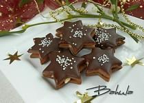 Čokoládové hvězdičky s kokosovou náplní