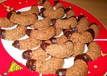 Čokoládovo-oříškové rohlíčky
