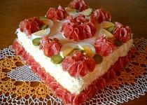 Hermelínová pomazánka do slaného dortu