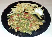 Kuřecí maso na zelenině