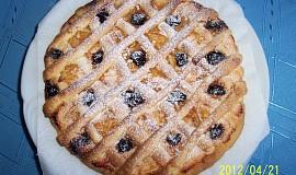 Linecký koláč na menší kulatý plech nebo dortovou formu od babičky