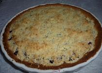 Linecký koláč s tvarohem, borůvkami a drobenkou pro začátečníky