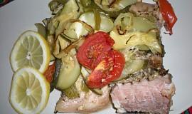Pečený kapr se zeleninou