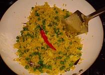 Pikantní hrášková rýže