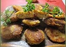 Placičky z bramborové kaše, mletého masa  a zakysané smetany