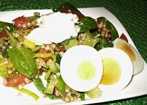 Pohankový salát s baby špenátem