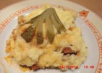 Ragú z mletého masa zapečené s bramborovou kaší(v originále cottage pie)