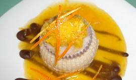 Skořicová panna cotta s pomerančem