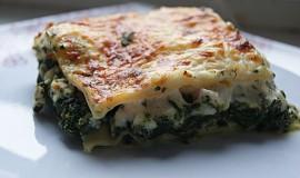 Špenátové lasagne s kuřecím masem