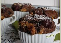 Višňové muffiny s čokoládou