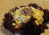 Zeleninový salát s tuňákem a rýží
