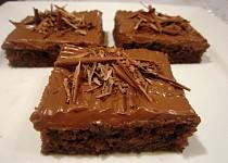 Kefírové čokoládové řezy