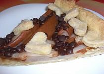 Linecký koláč s hruškami a čokoládou