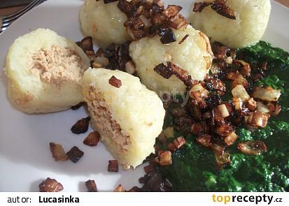 Plněné bramborové knedlíky (bez vajec)