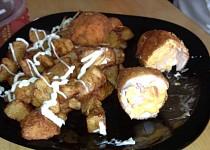 Plněné kuřecí řízky se šunkou a sýrem