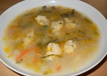 Pórková polévka s petrželovými noky