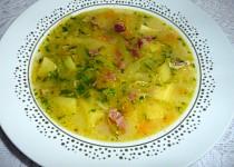 Pórková polévka se šunkou a mrkví