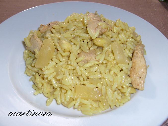 Rýže z Orientu (aneb variace na Orientální rýži s ananasem z obalu od rýže Lagris)