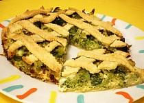 Slaný brokolicový koláč