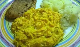 Smetanová mrkev s kurkumou a česnekem