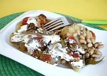 Sója zapečená s bramborami a zeleninou