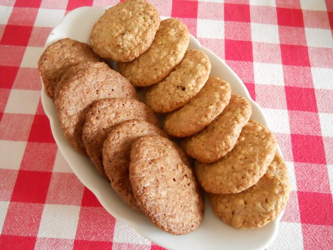 Sušenky z ovesných vloček, hotové sušenky